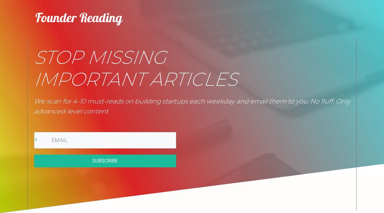 Founder Reading newsletter image