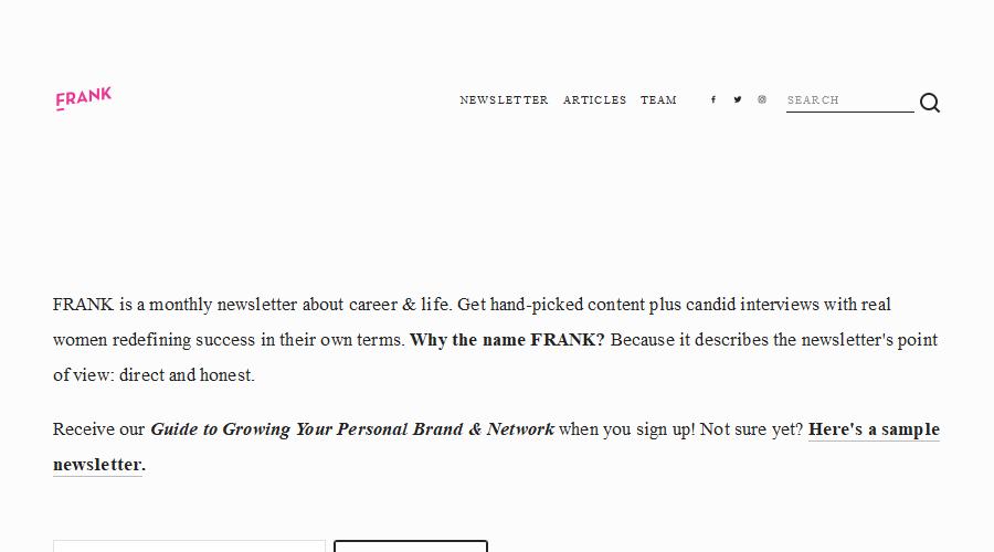 FRANK newsletter image