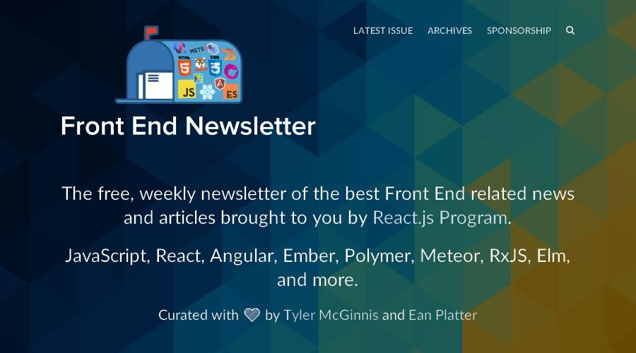 Front End Newsletter newsletter image