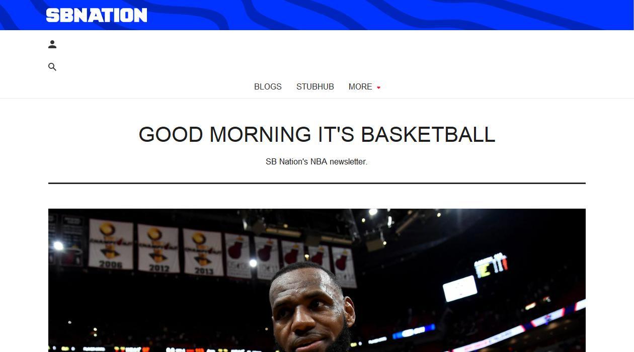 Good Morning It's Basketball newsletter image