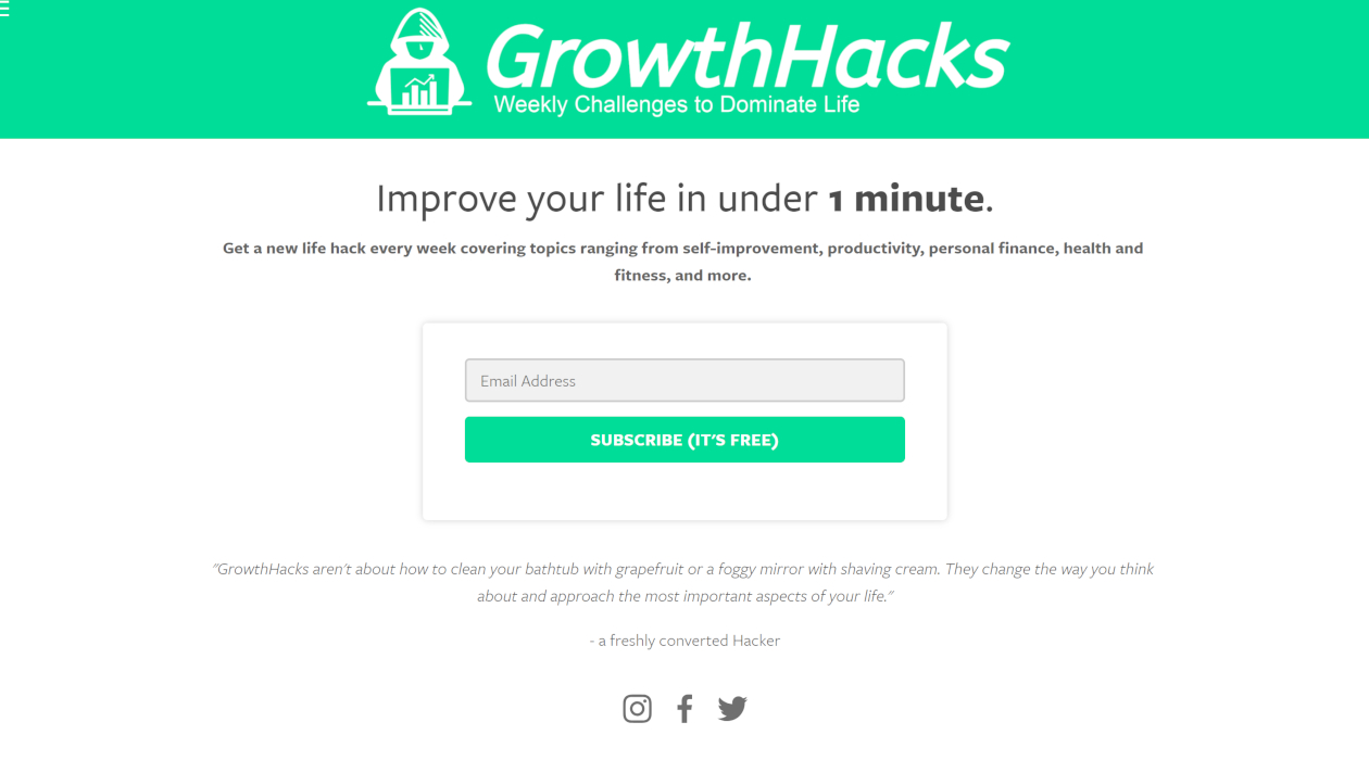 GrowthHacks newsletter image