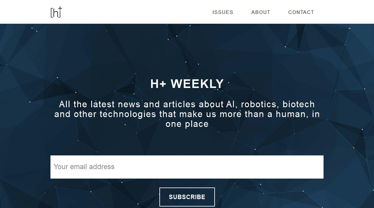H+ Weekly newsletter image