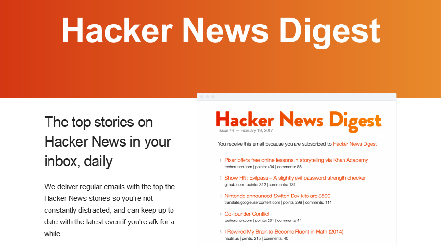 Hacker News Digest newsletter image