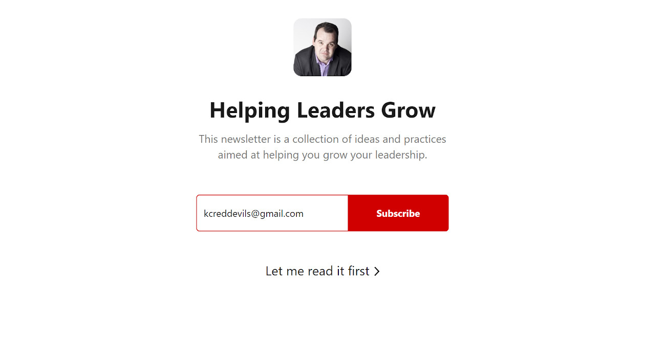 Helping Leaders Grow newsletter image