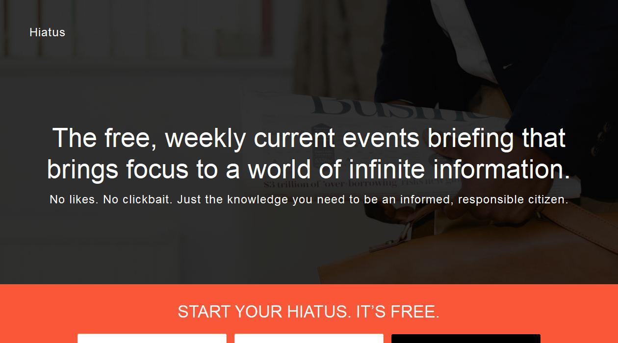 Hiatus newsletter image