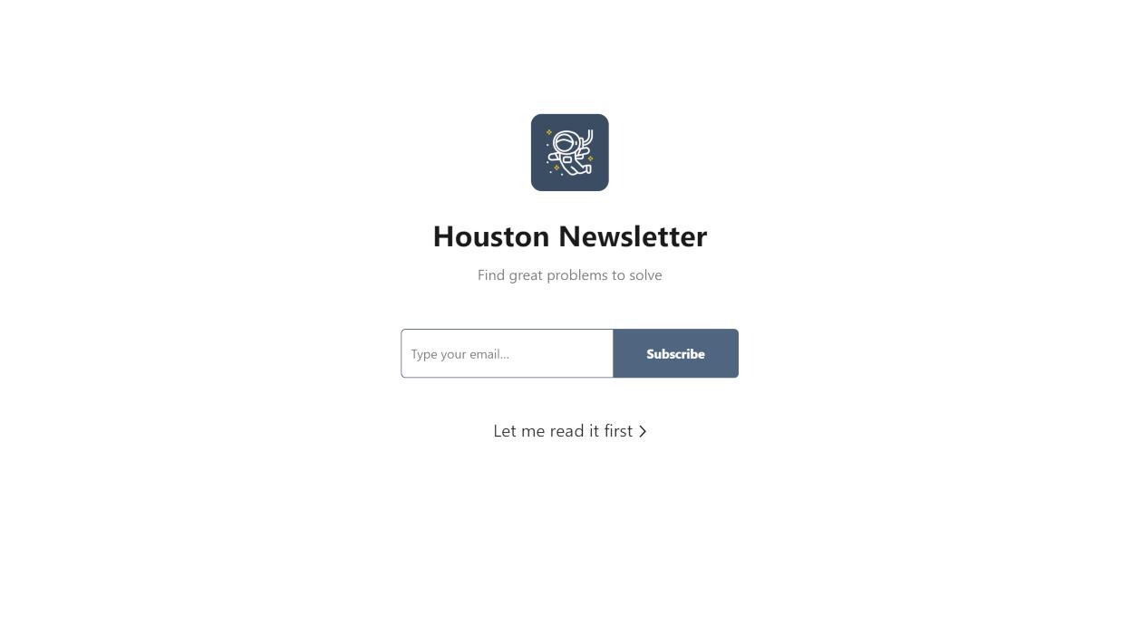 Houston newsletter image