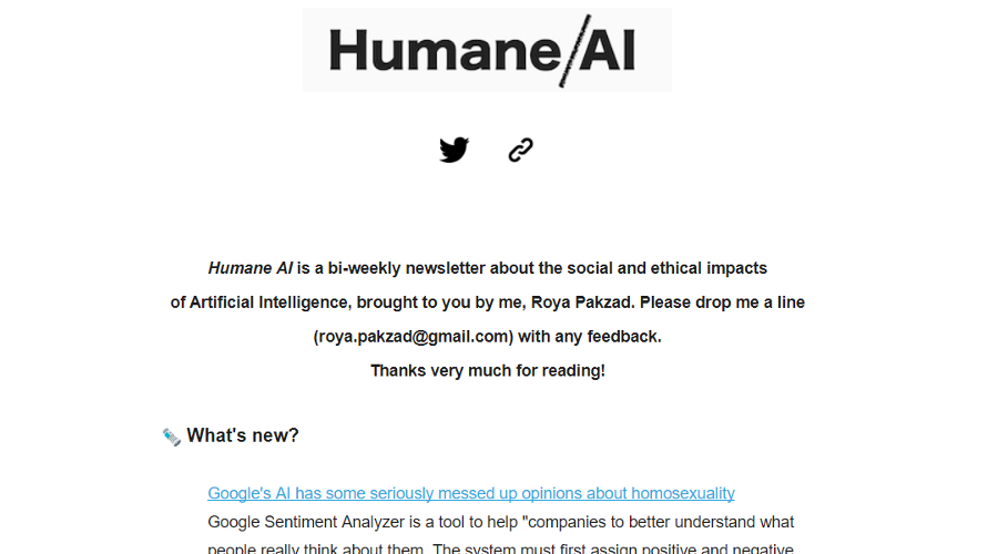 Humane AI newsletter image