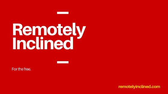 Remotely Inclined newsletter image
