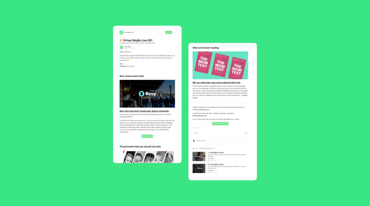 Virtual Mojito Live newsletter image