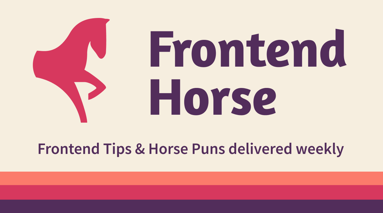 Frontend Horse newsletter image