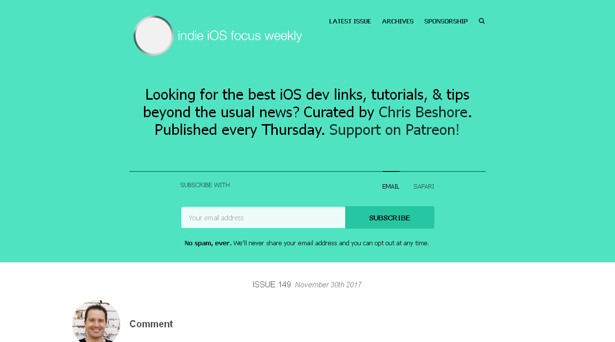 Indie iOS Focus Weekly newsletter image
