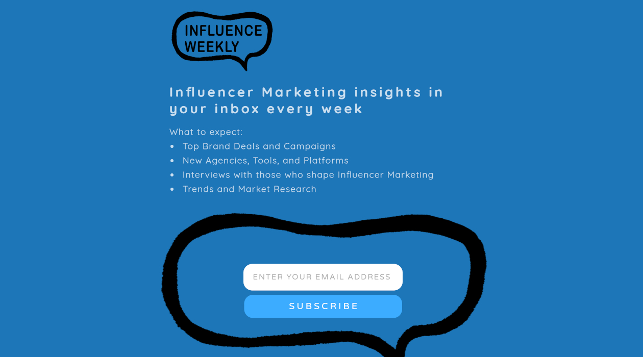 Influence Weekly newsletter image