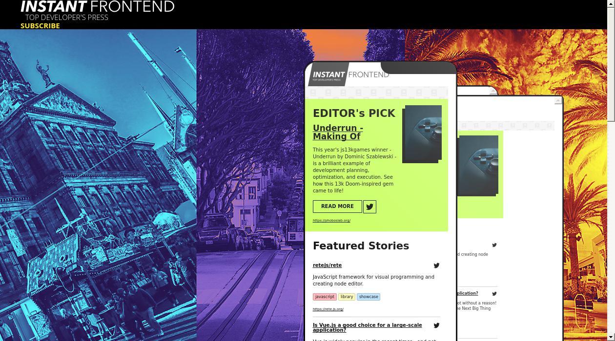 Instant Frontend newsletter image