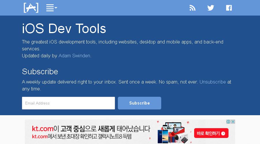 iOS Dev Tools newsletter image