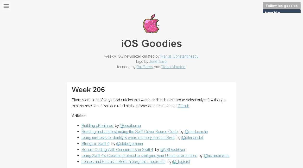 iOS Goodies newsletter image