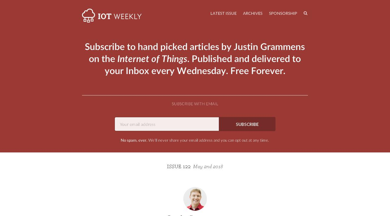 IoT Weekly newsletter image
