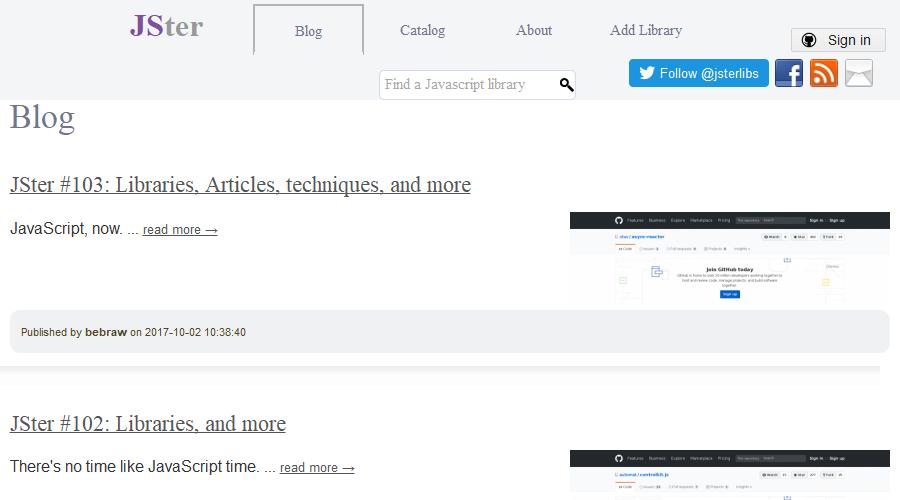 JSter newsletter image