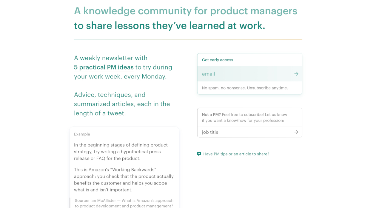know/how Product Managers newsletter image