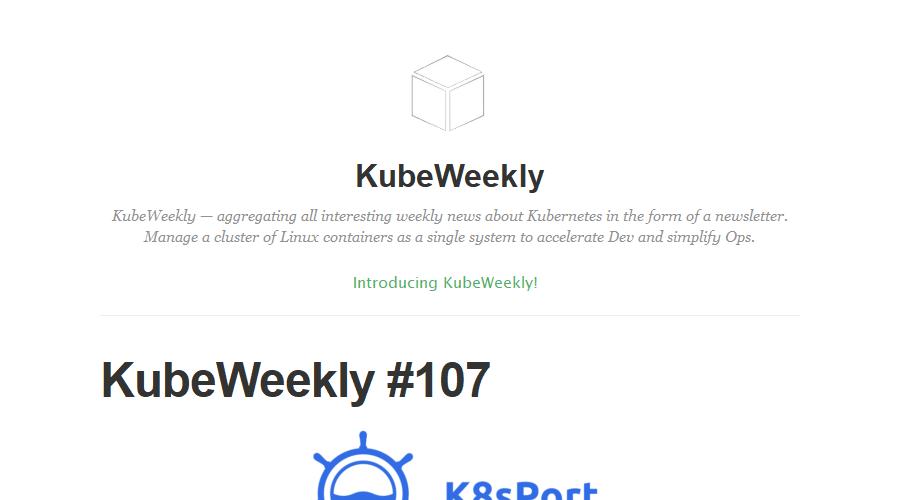 KubeWeekly newsletter image