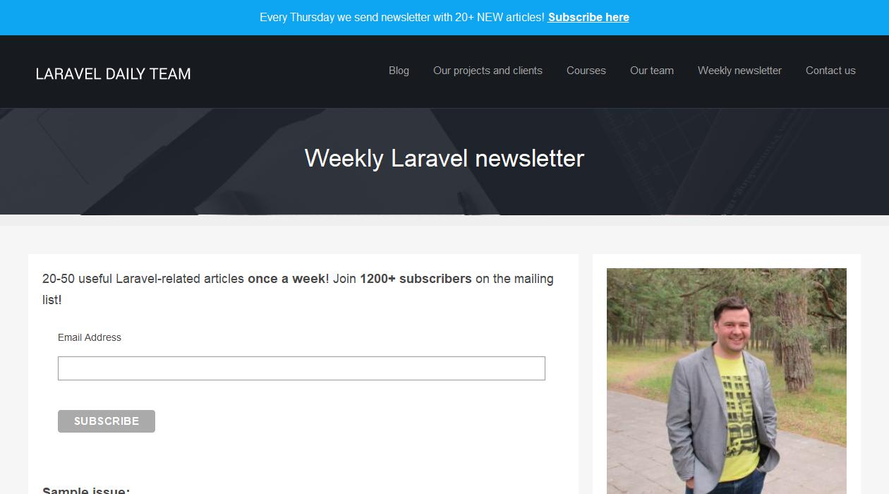 Laravel Daily newsletter image