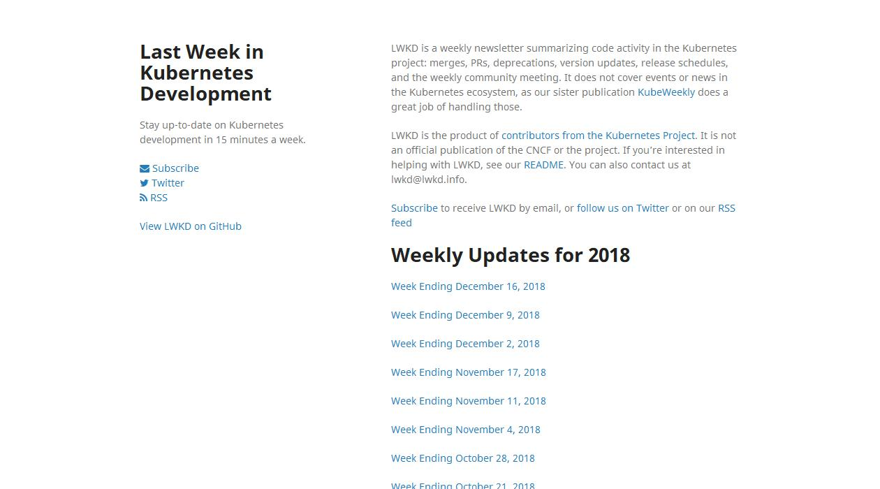 Last Week In Kubernetes Development newsletter image