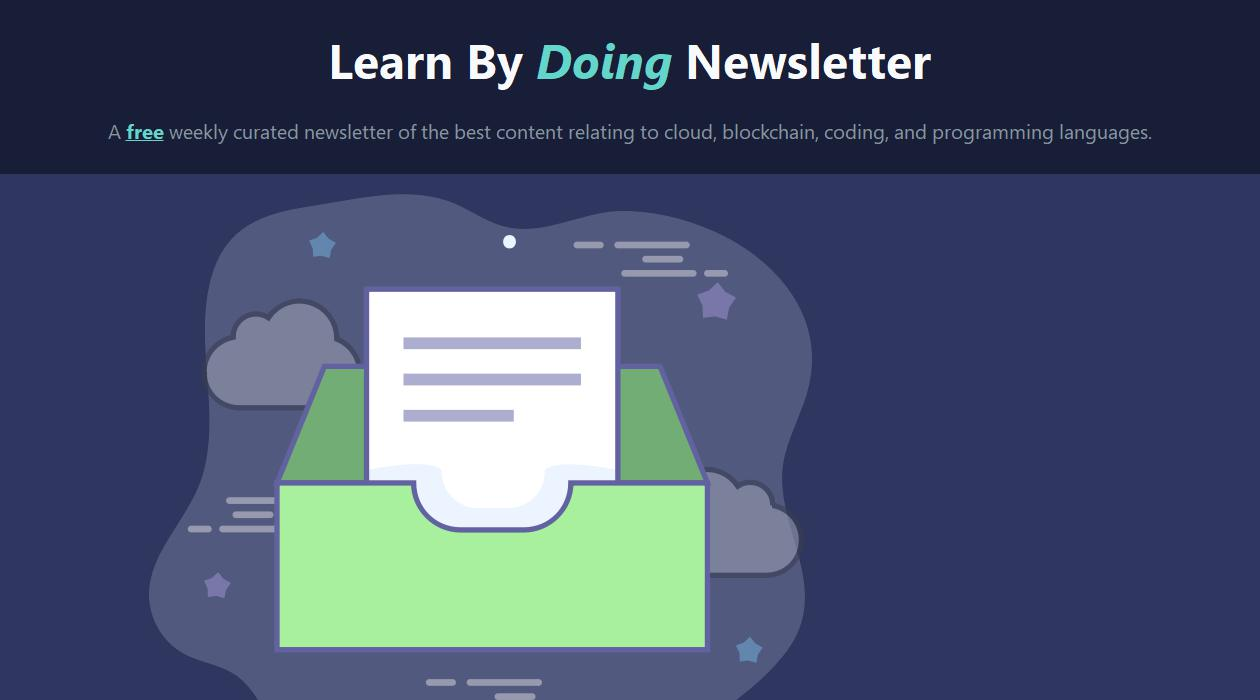 Learn By Doing newsletter image