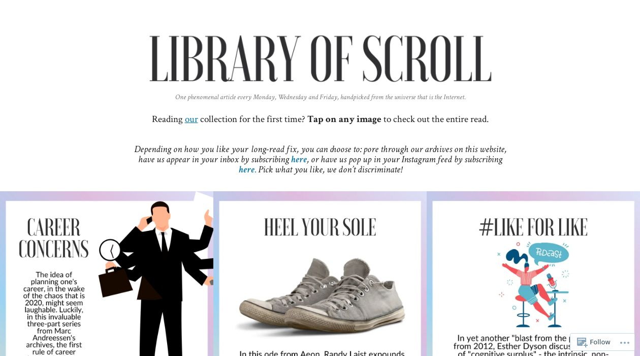 Library of Scroll newsletter image
