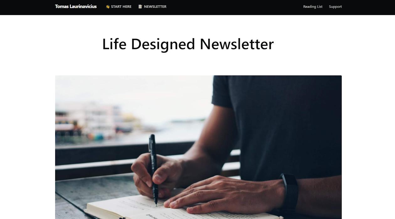 Life Designed newsletter image