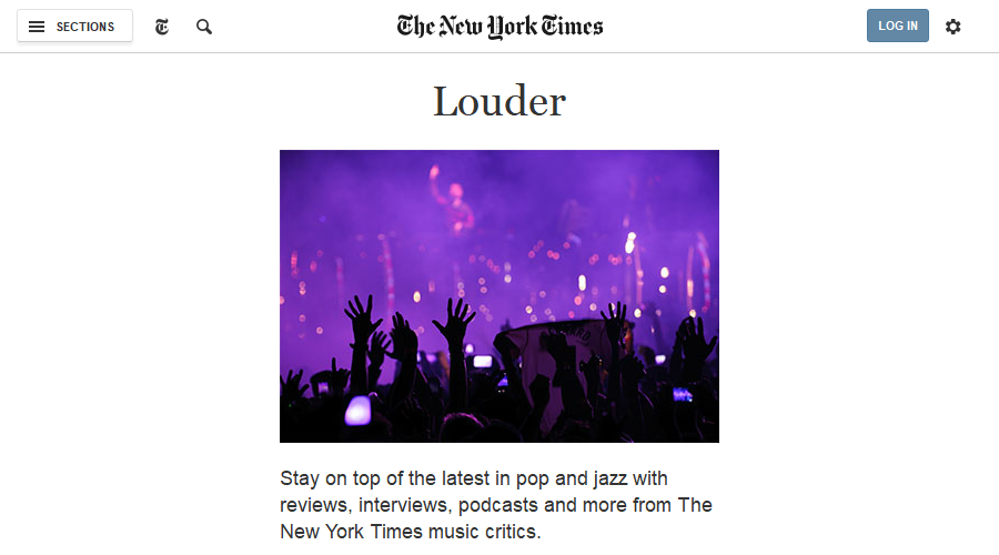 Louder - New York Times newsletter image