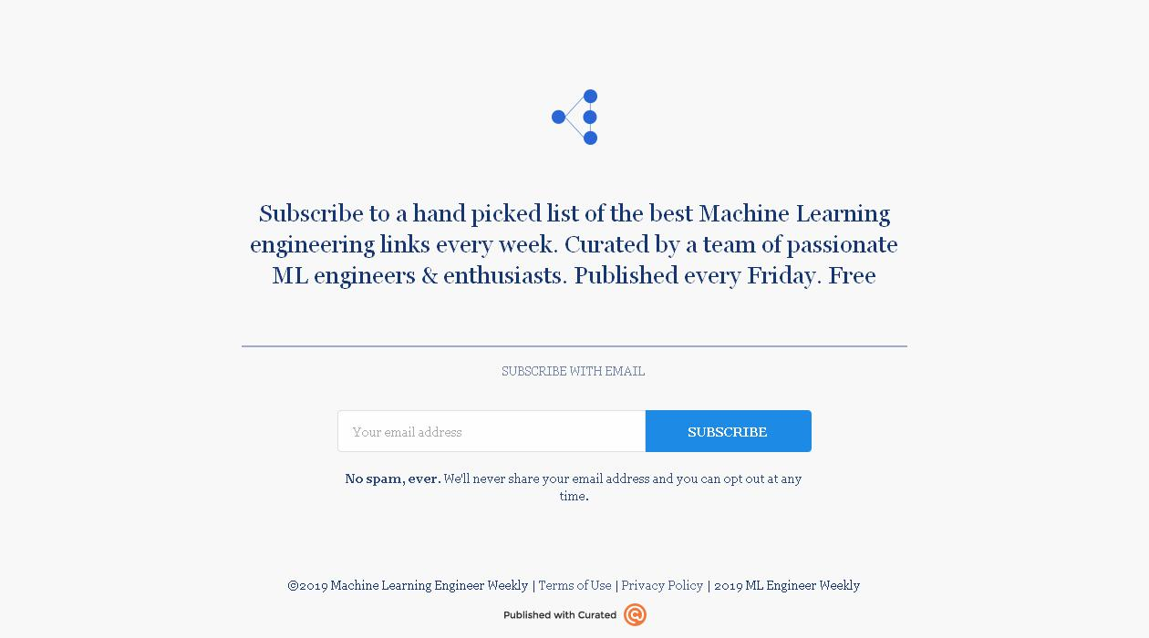 Machine Learning Engineer Weekly newsletter image