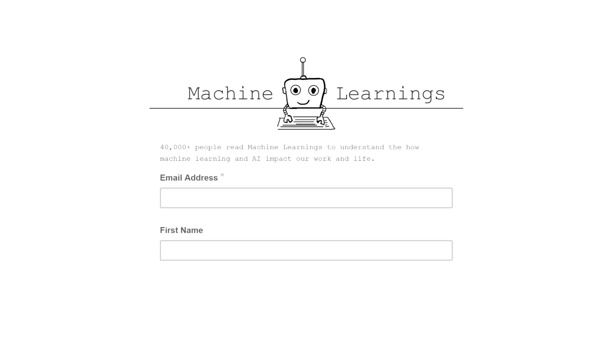 Machine Learnings newsletter image