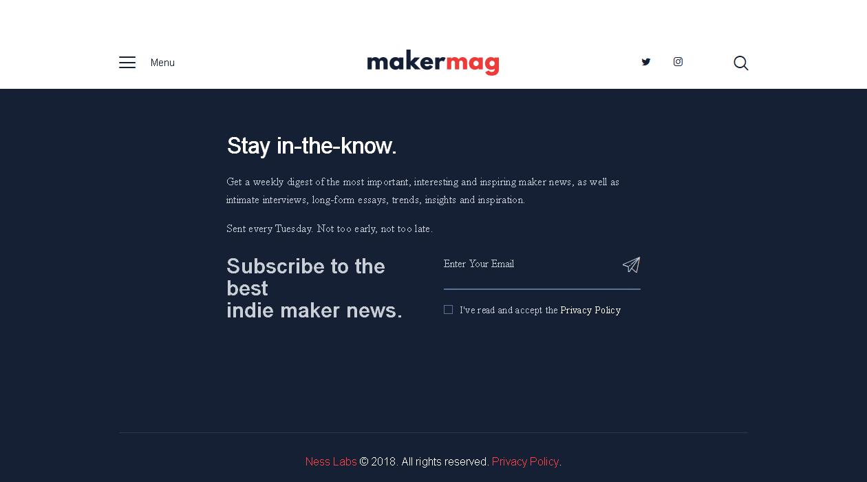 Maker Mag newsletter image