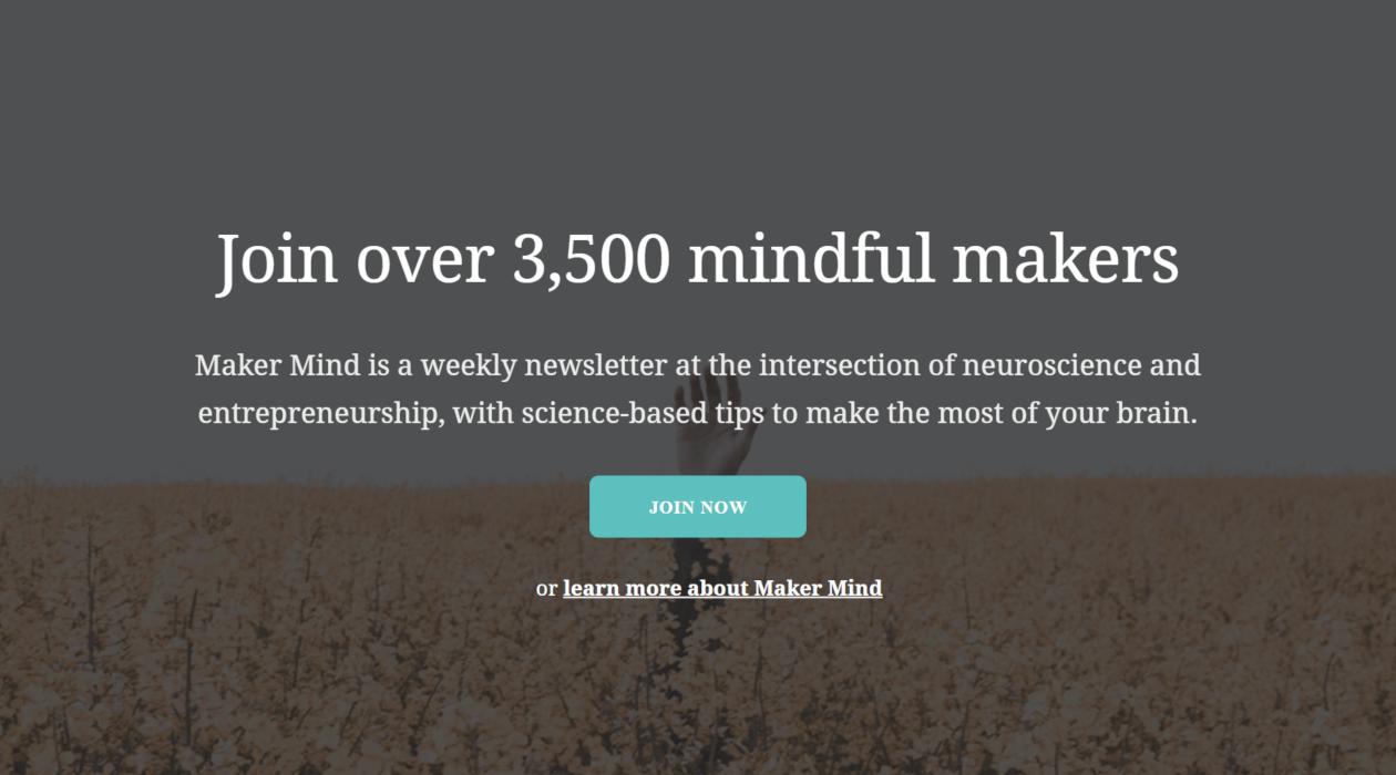 Maker Mind newsletter image