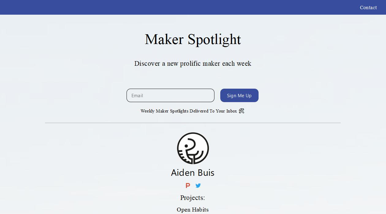 Maker Spotlight newsletter image