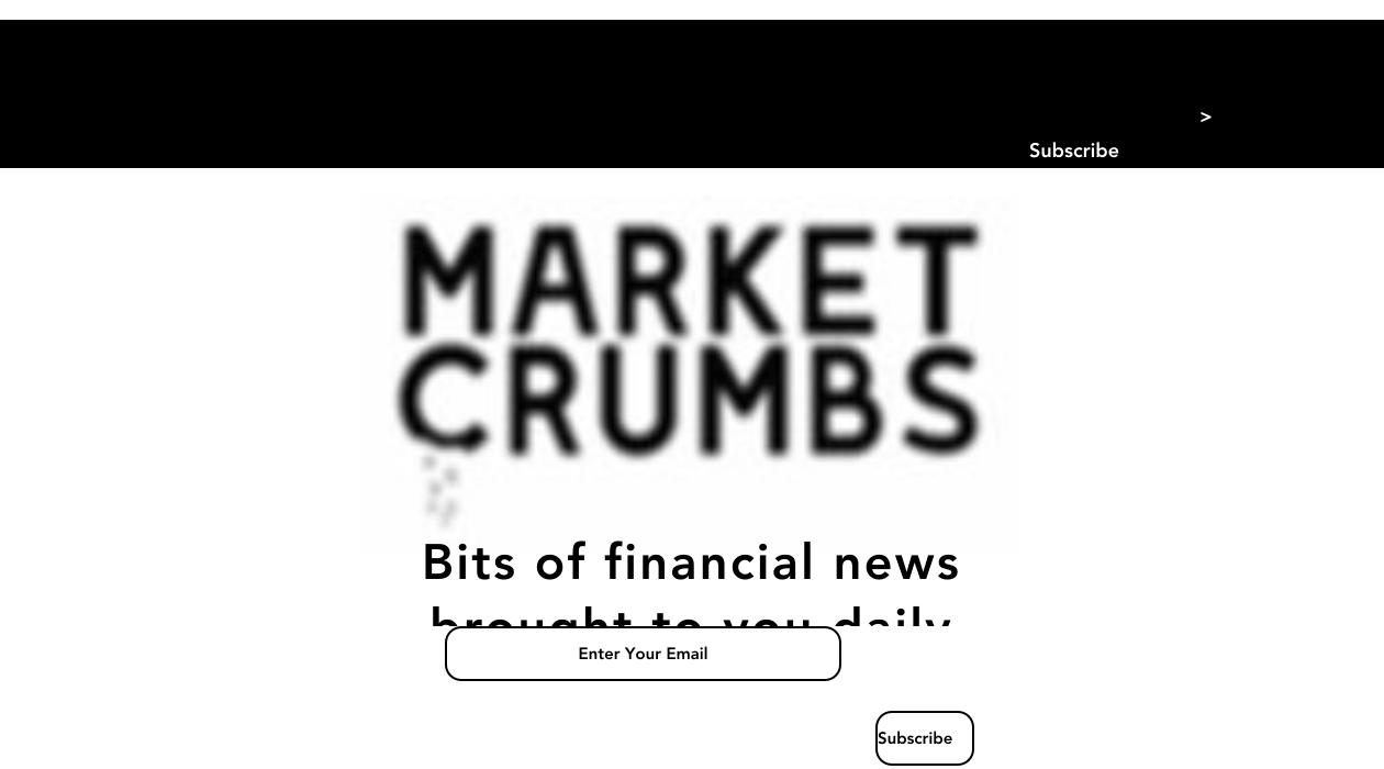 Market Crumbs newsletter image