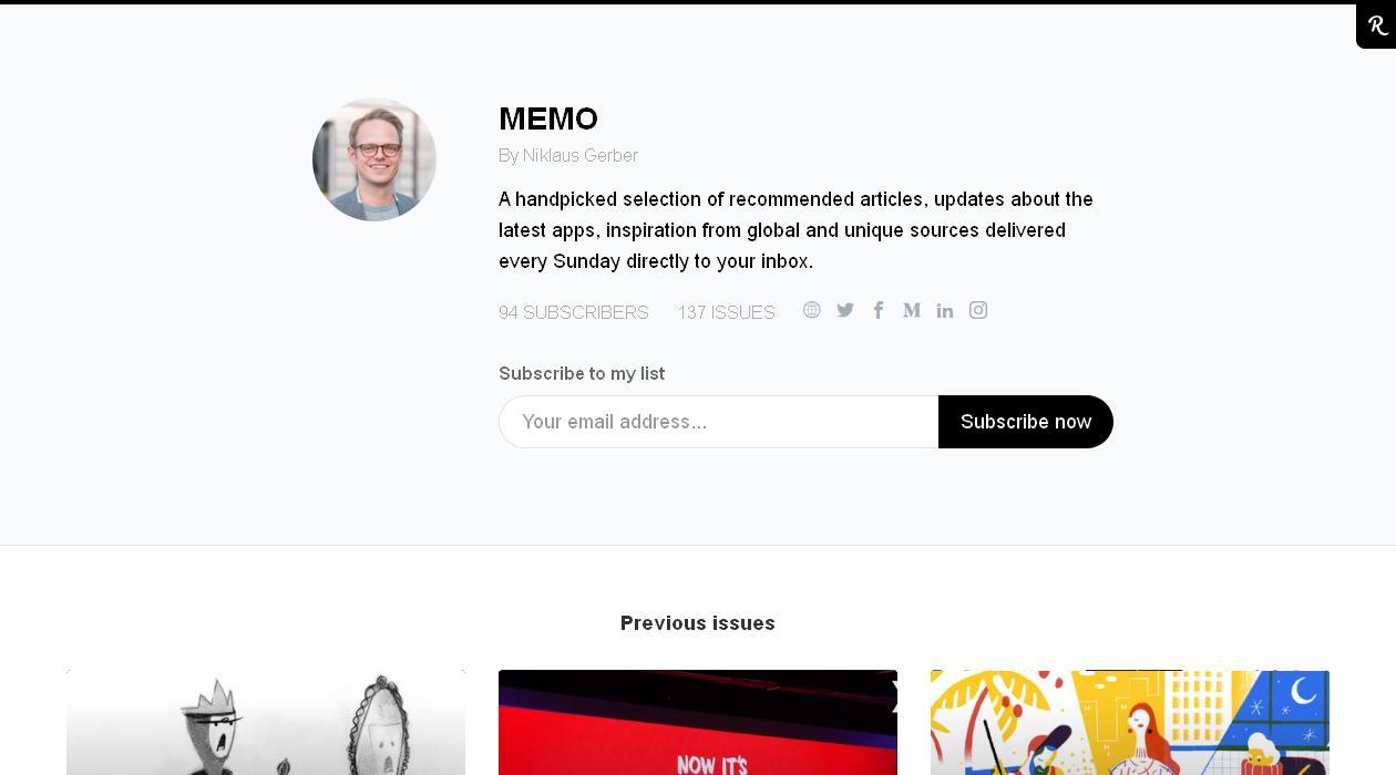 MEMO newsletter image