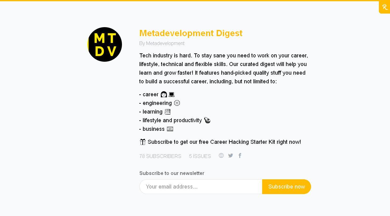 Metadevelopment Digest newsletter image