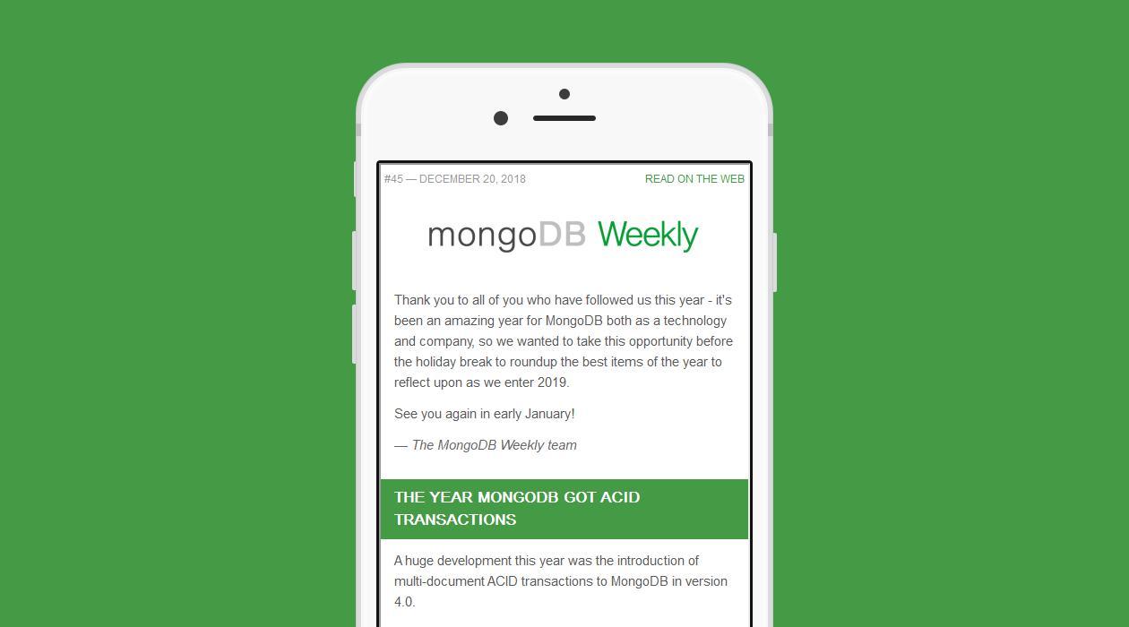 MongoDB Weekly newsletter image