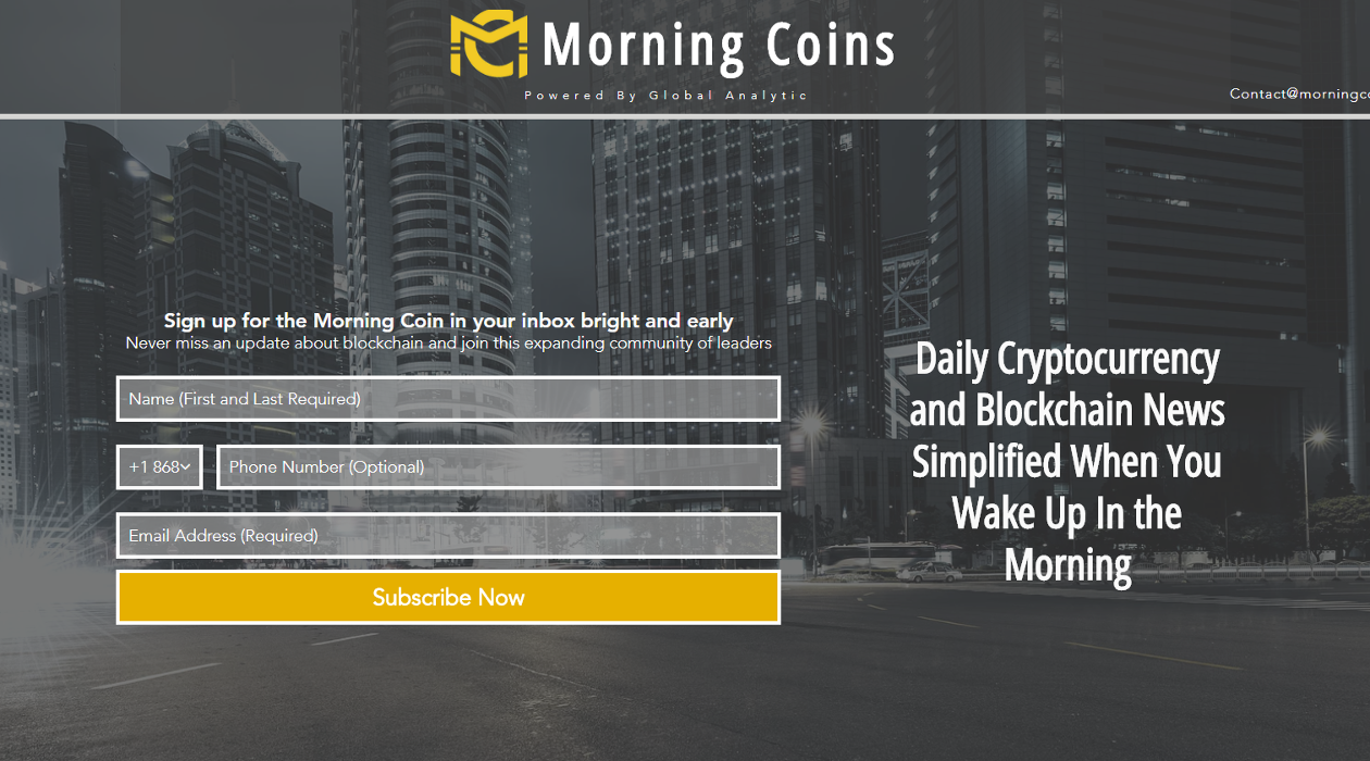 Morning Coins newsletter image