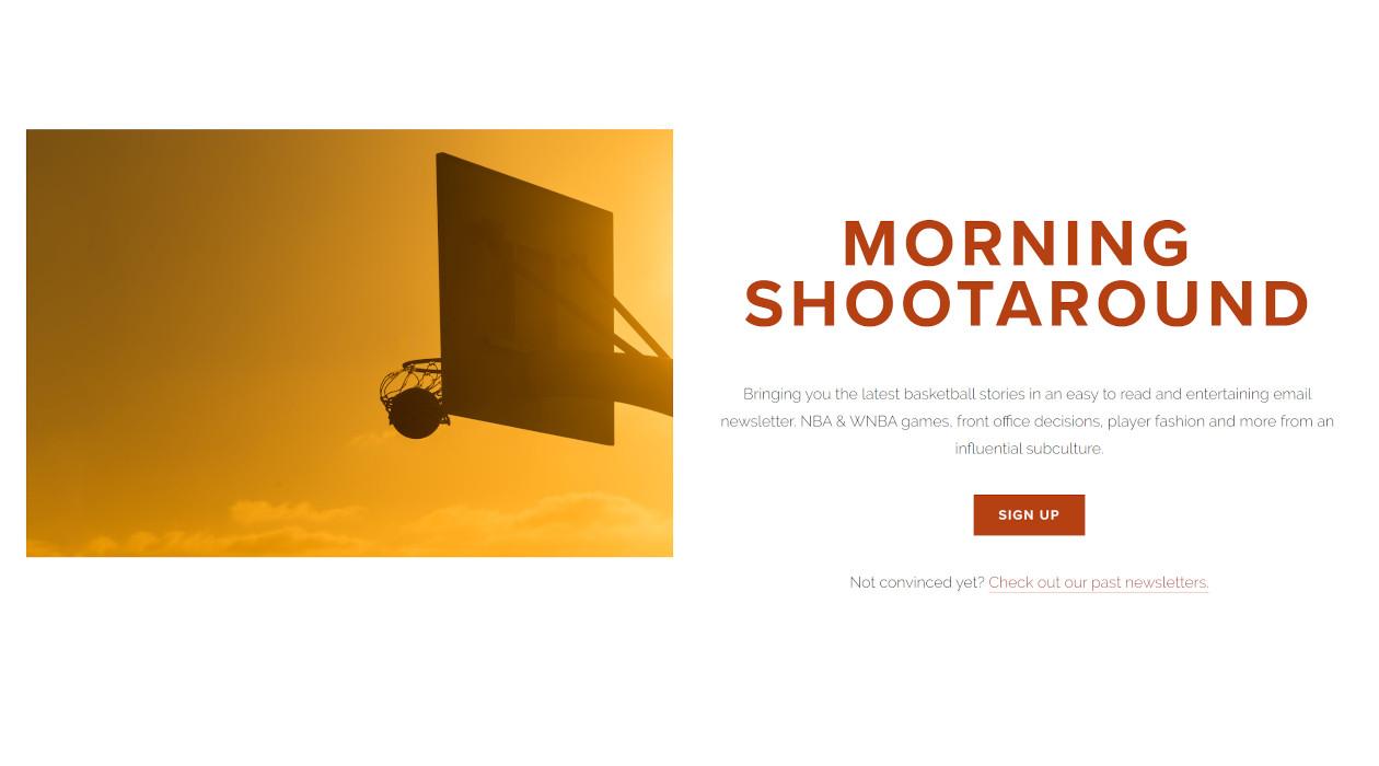 Morning Shootaround newsletter image