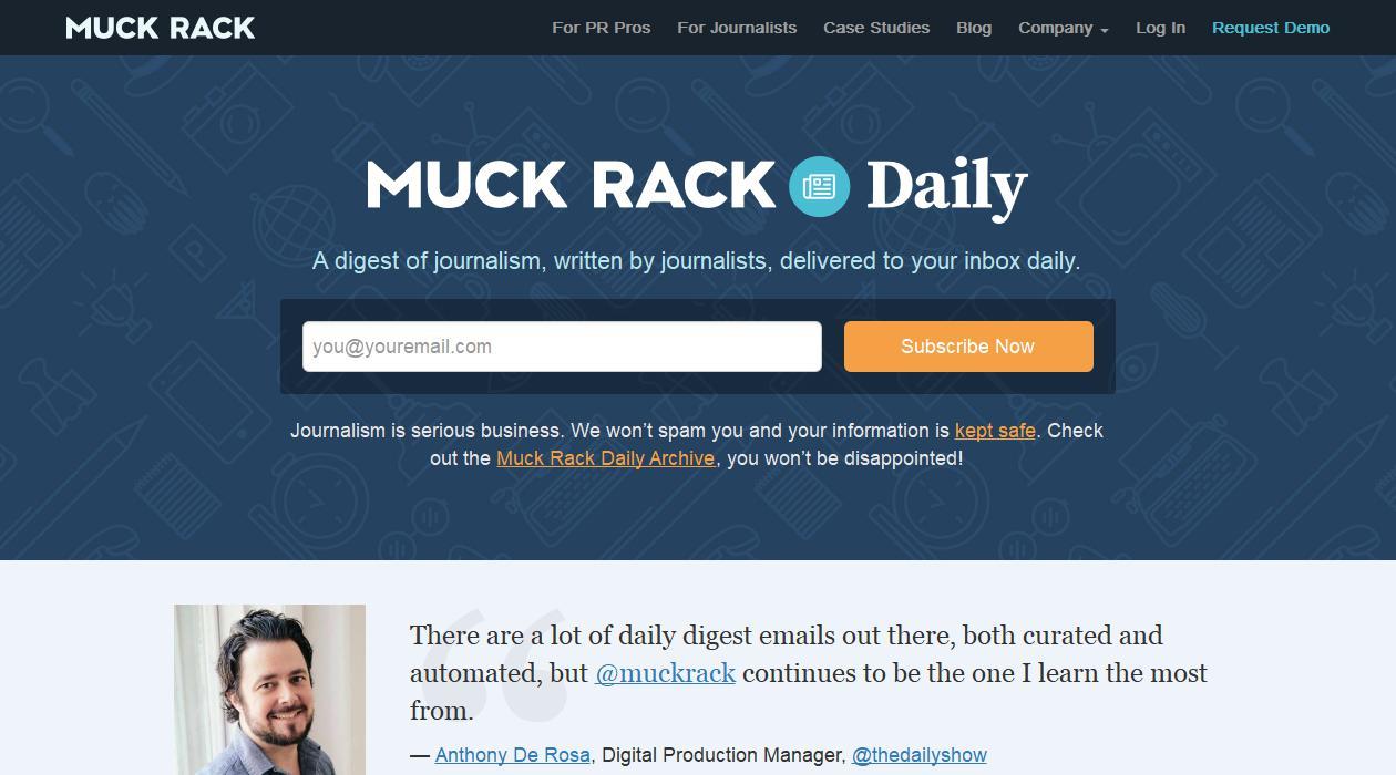 Muck Rack Daily newsletter image