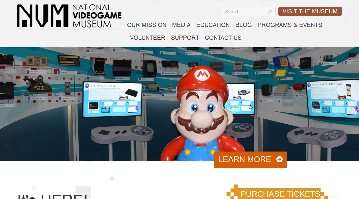 National Video Game Museum newsletter image