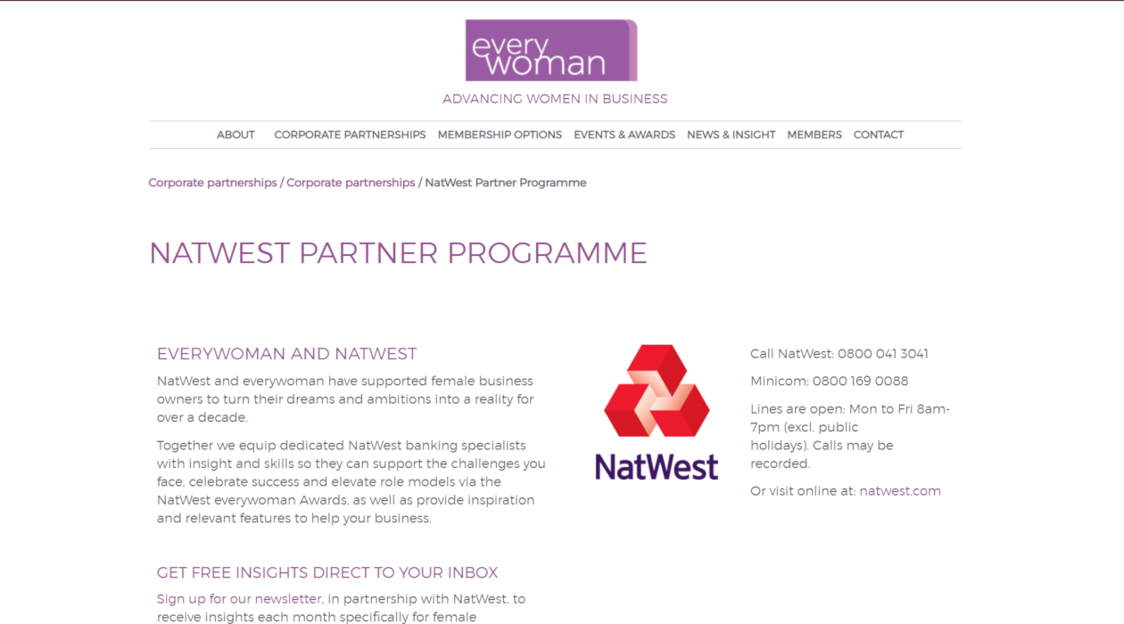 NatWest everywoman Female Entrepreneurs newsletter image