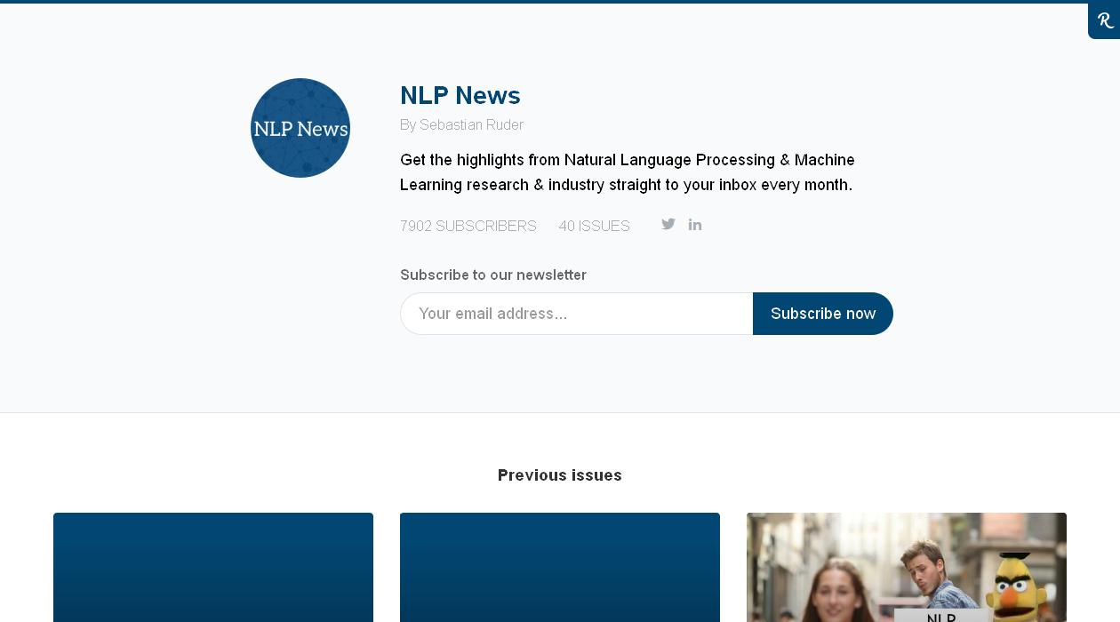 NLP News newsletter image