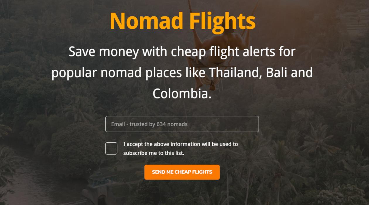 Nomad Flights newsletter image