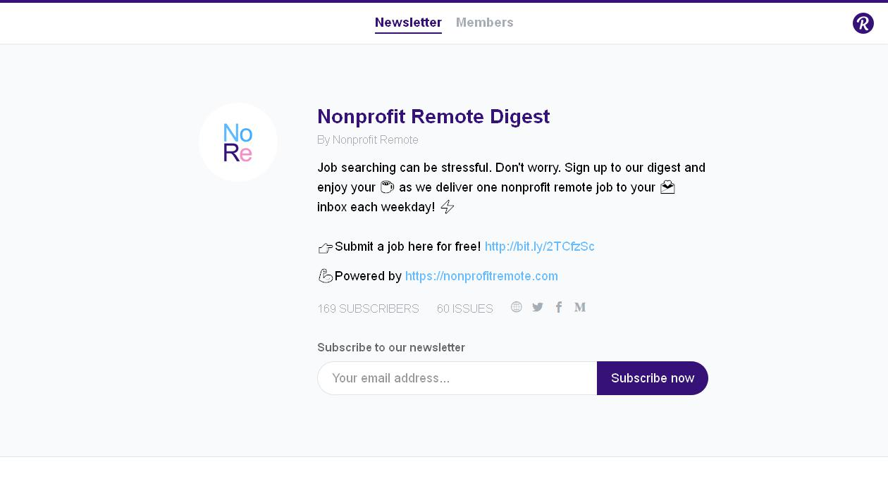 Nonprofit Remote Digest newsletter image