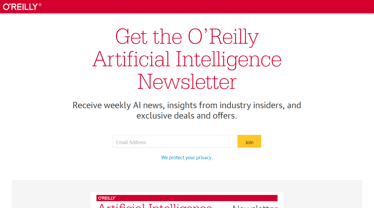 O'Reilly AI newsletter image