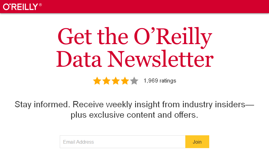 O'Reilly Data Newsletter newsletter image