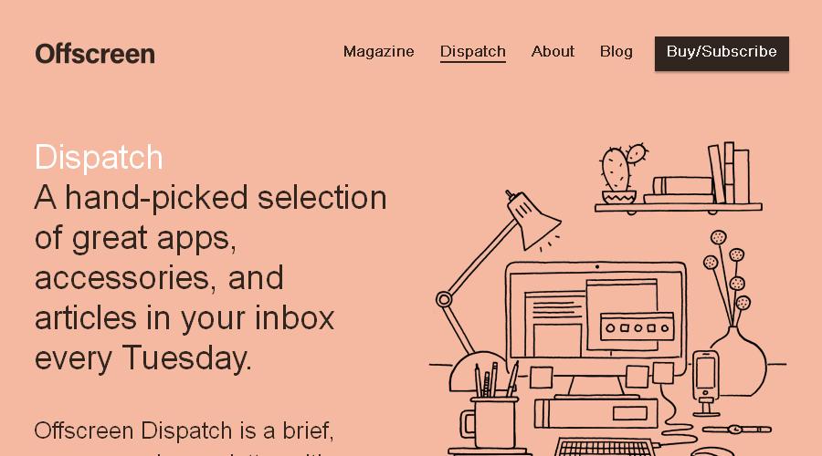 Offscreen Dispatch newsletter image