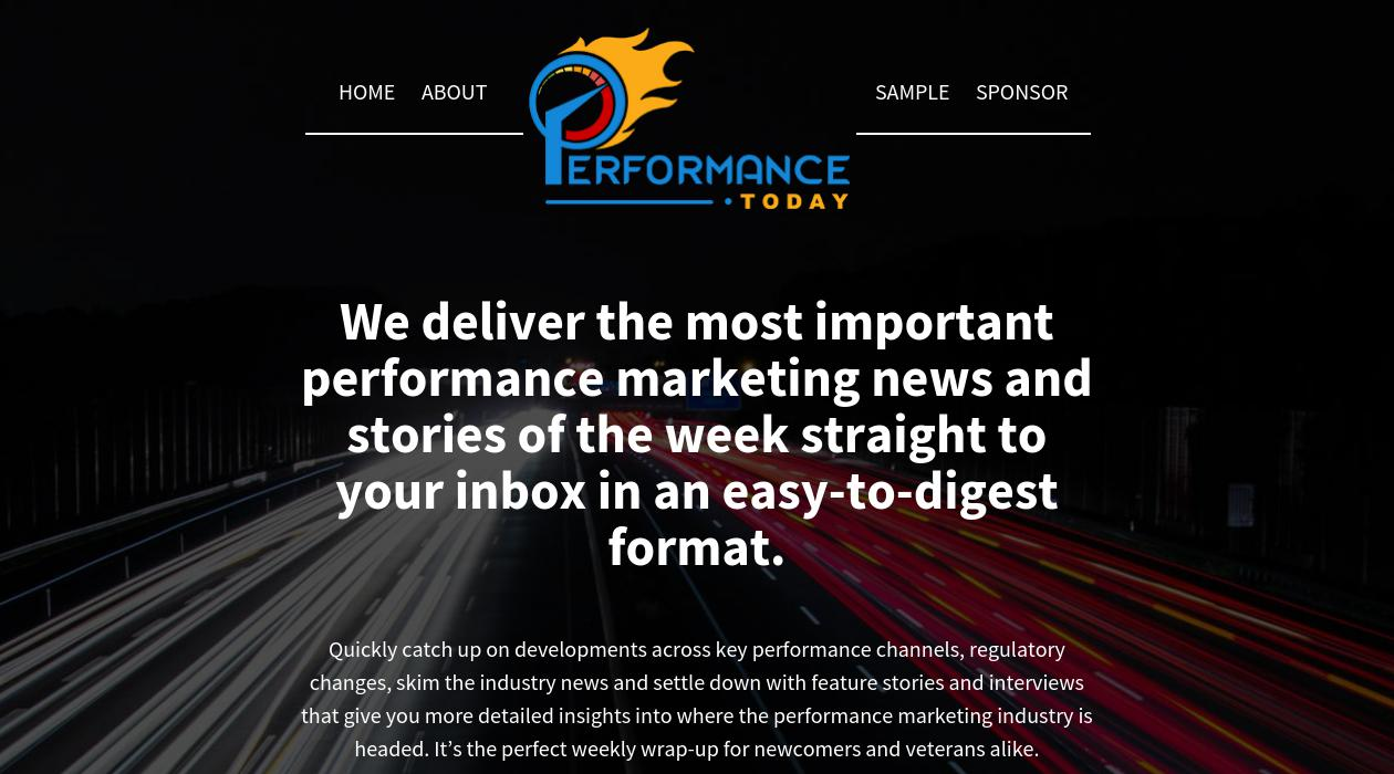 Performance Today newsletter image